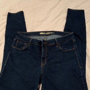 Old Navy Rock Star Mid-Rise Jeans 14 Dark Blue NEW